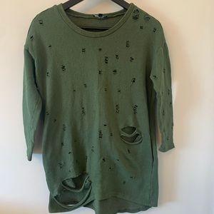 2/$18 Fashion Nova / Distressed / Long /Sweatshirt